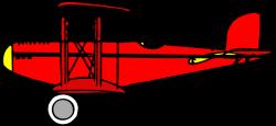 Red Biplane Clip Art at Clker.com - vector clip art online, royalty ...