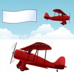 Biplane With Banner stock vectors - Clipart.me