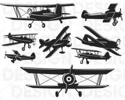 Biplane svg, fly svg, propeller plane svg, silhouette studio ...
