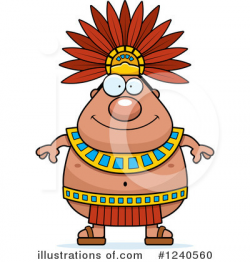 Aztec Clipart #1240560 - Illustration by Cory Thoman