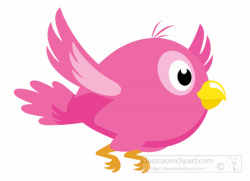 Animal Clipart - Bird Clipart - cartoon-pink-bird-with-yellow-beak ...