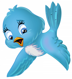 Large Blue Bird PNG Cartoon Clipart | Gallery Yopriceville - High ...