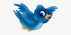 Blue Bird Clipart - Flying Bird Cartoon Png #10374 - Free ...