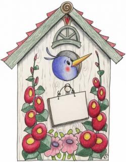 22 best Canvas paintings-bird houses images on Pinterest | Bird ...