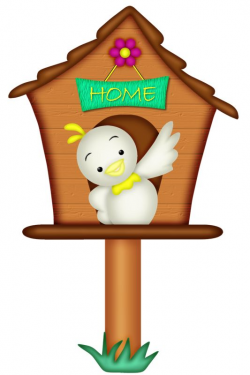55 best CLIP ART ON BIRD HOUSES images on Pinterest | Clip art ...