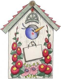 country birdhouse clipart | Imagens para Artes e Artesanatos: 01/12 ...