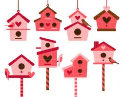 Bird house clipart | Etsy