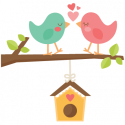 Birds With Birdhouse SVG scrapbook cut file cute clipart files for ...