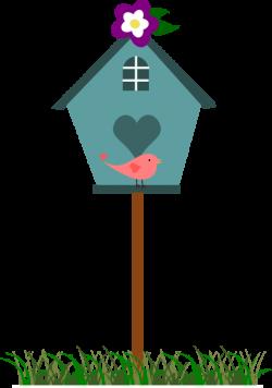 Birdhouse Garden Clipart