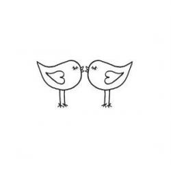 Simple Love Bird Clipart