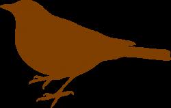Brown Bird Clip Art at Clker.com - vector clip art online, royalty ...
