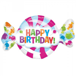 """Happy Birthday Candy XL® SuperShapes™ (43"""")"""