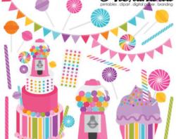 Candy Shop Clipart Sweet Shop Clip Art Lollipop PNG Image