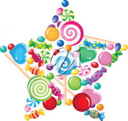Birthday Clipart - Candy Star | Fall Birthday parties | Pinterest ...