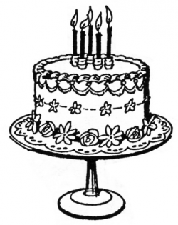 Birthday Cake Line Drawing at GetDrawings.com | Free for personal ...