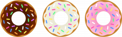 donuts_set_chocolate_vanilla_strawberry.png 7,756×2,368 pixels Clip ...