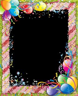 Transparent Birthday PNG Frame | marcos decorados | Pinterest ...