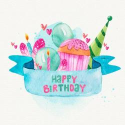 Watercolor Birthday Clipart Happy Birthday Cards Birthday Graphic ...