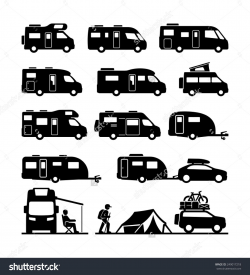Image result for camper clipart black white   Camping Clipart, Decor ...