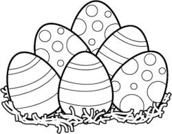 easter egg clipart black and white | Easter | Easter bunny ...