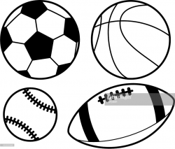 sports clipart black and white 7   Clipart Station