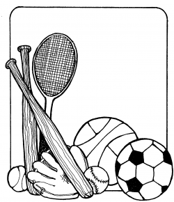 Sports Black And White Clipart