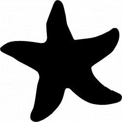Starfish Black Clipart