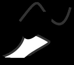 Running Stick Figure Black Clip Art at Clker.com - vector clip art ...