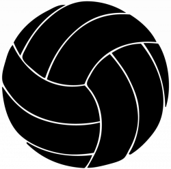 28+ Collection of Volleyball Clipart Black And White | High quality ...