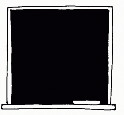 Blackboard Clipart Black And White - Letters