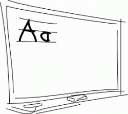 Blackboard Clipart Black And White | Letters Format