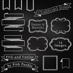 Chalkboard Frames and Banners Clipart Clip Art, Chalkboard Clipart ...