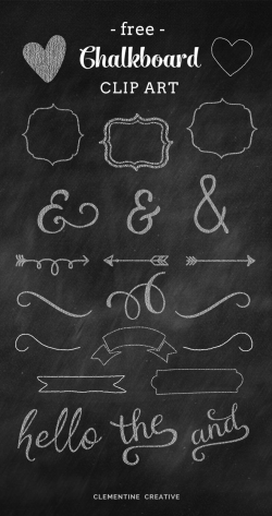 Free Chalkboard Clip Art Graphics | Chalkboards, Clip art and Creative