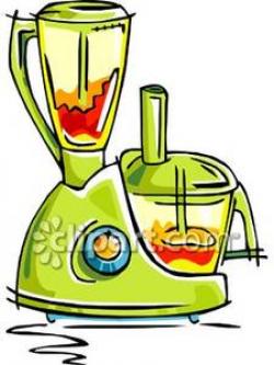 A Blender and Food Processor Combination - Royalty Free Clipart Picture