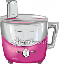 A Pink Food Processor - Royalty Free Clipart Picture