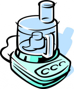 Stock Illustration - Drawing of a food processor