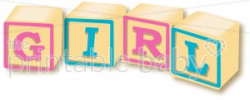Girl Block letter Clipart | Baby Wordart & Alphabets