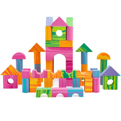 Amazon.com: Morvat 60 Piece Soft Foam Multi-Colored Building Block ...
