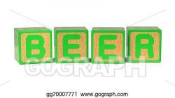 Stock Illustration - Beer - colored childrens alphabet blocks ...