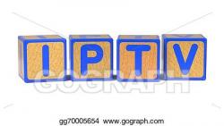 Stock Illustration - Iptv - colored childrens alphabet blocks ...