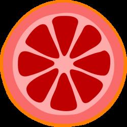 Blood Orange Slice Clip Art at Clker.com - vector clip art online ...
