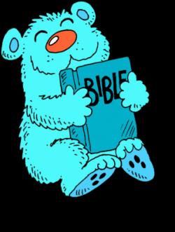 Image: Blue Bear Hugging a Bible | Bible Clip Art | Christart.com