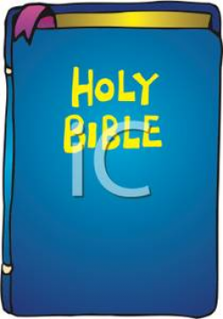 The Holy Bible - Royalty Free Clipart Picture