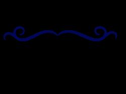 Image - Single-line-border-clipart-dark-blue-swirl-divider.png ...