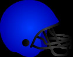Blue Football Helmet - Free Clip Art