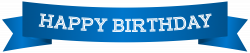 Happy Birthday Banner Blue PNG Clip Art Image | Gallery ...
