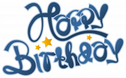 Blue Happy Birthday Clipart Picture | Gallery Yopriceville - High ...