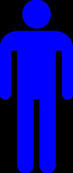 Blue Male Stick Figure Silhouette Clip Art at Clker.com - vector ...