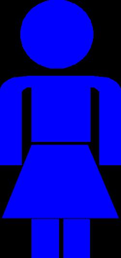 Blue Lady Stick Figure Clip Art at Clker.com - vector clip art ...