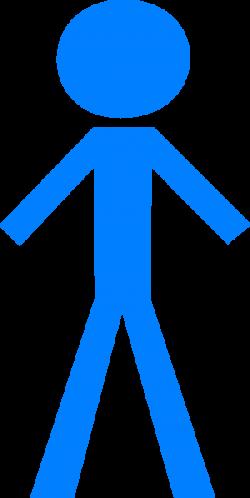Stick Figure - Blue Clip Art at Clker.com - vector clip art online ...